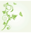 Abstract background with green flowers vector
