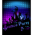 Dance party poster vector