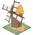 A video game object an old windmill vector