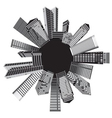 Black and white cities vector