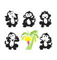 Group of monkeys and bananas vector