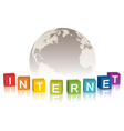 Internet concept with globe vector