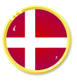 Button with flag denmark vector