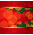 Christmas background with candles and fir tree vector