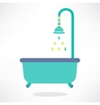 Bathroom shower icon vector