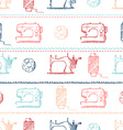 Seamless sewing pattern vector