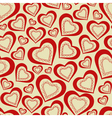 Seamless pattern hearts for valentines day vector