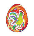 Rooster over egg vector
