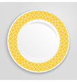 Decorative plate top view vector