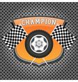 Racing emblem vector