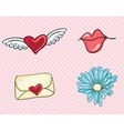 Love cute icons vector