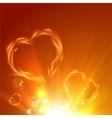 Fire love hearts vector