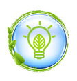 Blue ball and green eco lamp vector