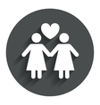 Couple sign icon woman love woman lesbians vector
