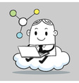 Business man cloud vector