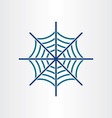 Spider web target icon design vector