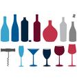 Liquor bottles vector
