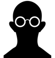 Silhouette of person with eyeglasses vector