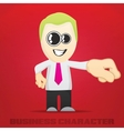 Cartoon business character vector