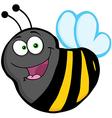 Flying bee cartoon mascot character vector