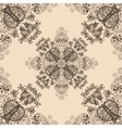 Blue floral seamless pattern on beige vector