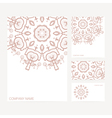 Set of business card and invitation card templates vector