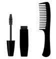 Mascara and comb vector