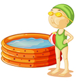 A young swimmer vector