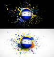 Honduras flag with soccer ball dash on colorful vector