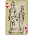 Pharaoh and queen vector