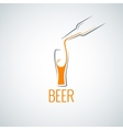 Beer glass bottle menu background vector