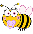 Baby girl bee cartoon mascot character vector