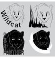 Stylish logo black panther vector