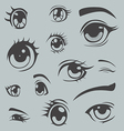 Anime style eyes vector