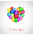 Background with colored balloons heart-shaped vector