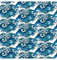 Decorative blue flower ornamental pattern vector
