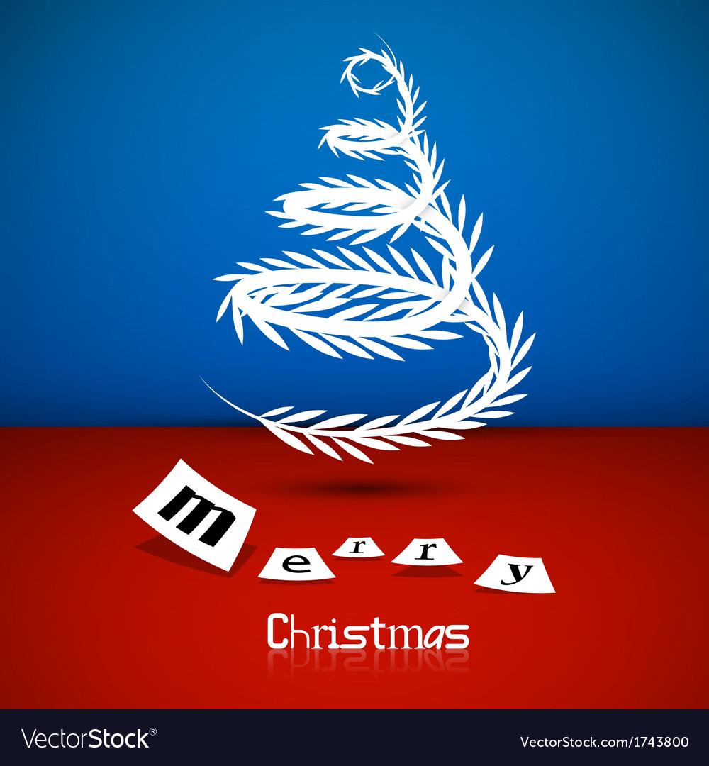 Abstract christmas tree theme merry christmas vector | Price: 1 Credit (USD $1)