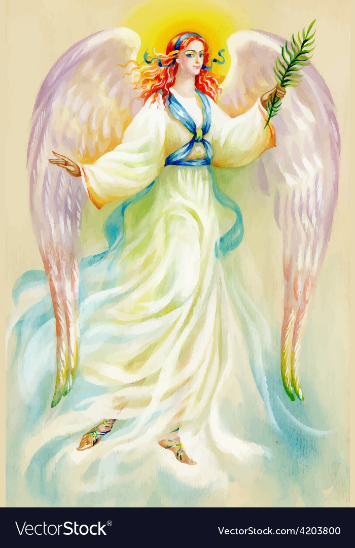 Artistic angel design vector | Price: 3 Credit (USD $3)