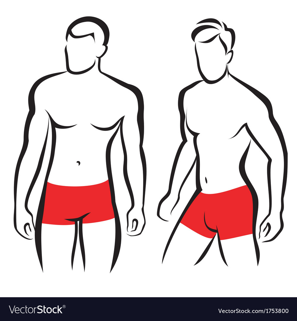 Athletic men silhouettes vector | Price: 1 Credit (USD $1)