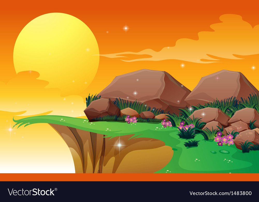 Big rocks near the cliff vector | Price: 1 Credit (USD $1)