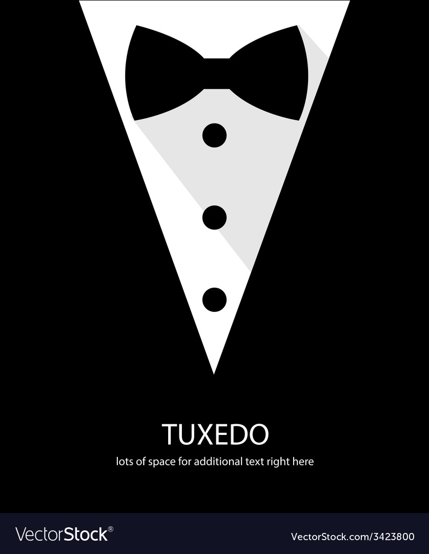 Black and white bow tie tuxedo vector | Price: 1 Credit (USD $1)