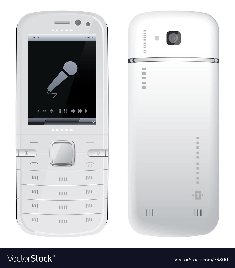 Cellular telephone vector | Price: 1 Credit (USD $1)