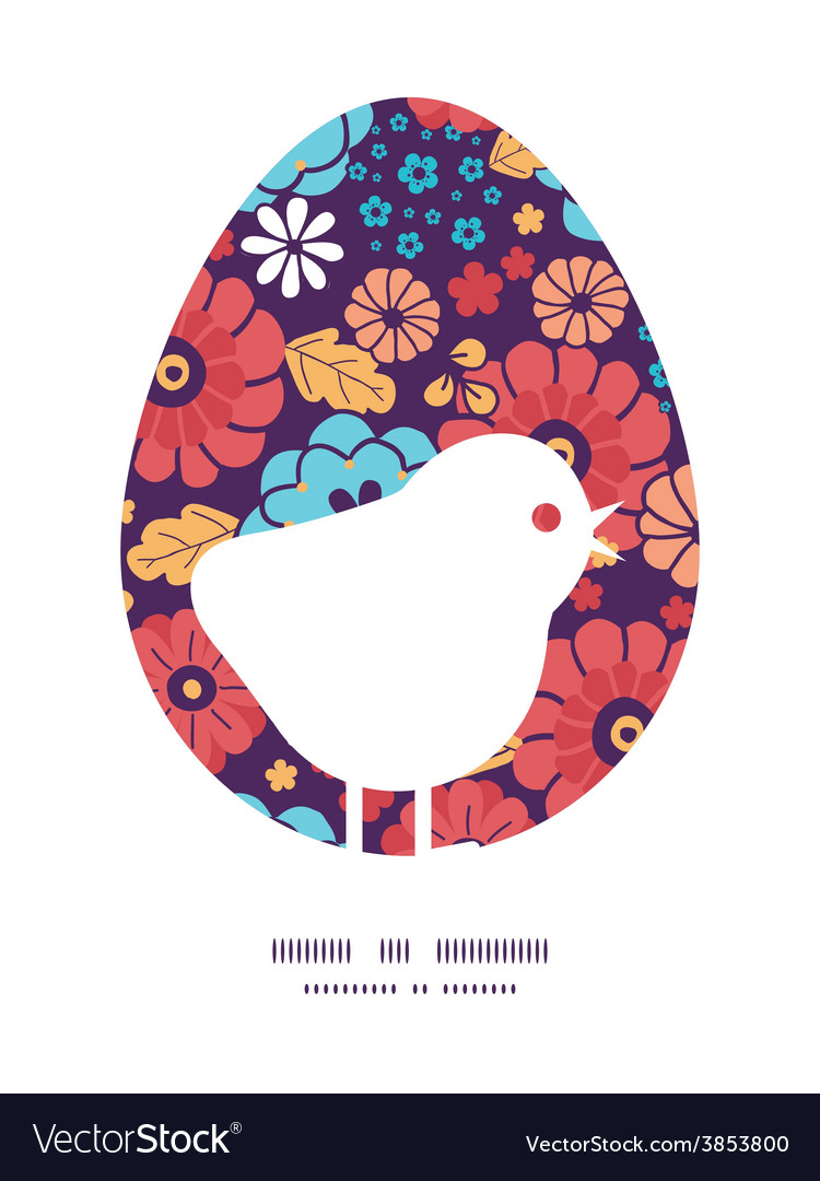 Colorful bouquet flowers chicken silhouette vector   Price: 1 Credit (USD $1)