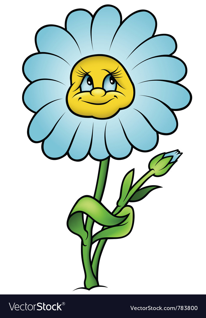 Daisy flower vector | Price: 1 Credit (USD $1)