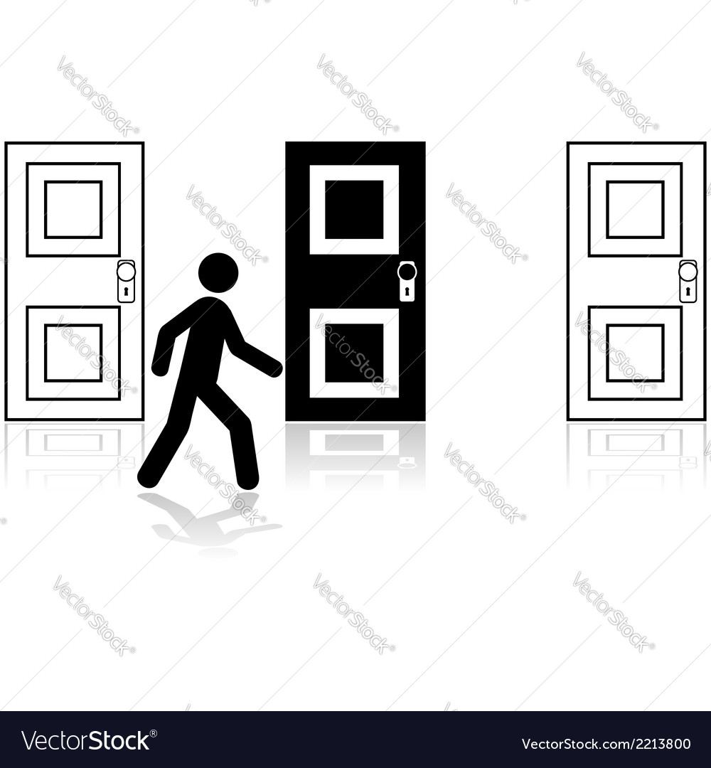 Door choice vector | Price: 1 Credit (USD $1)