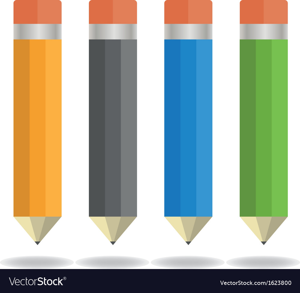 Four pencils vector | Price: 1 Credit (USD $1)
