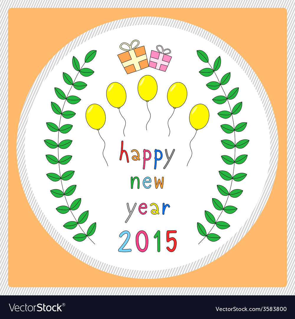 Happy new year 2015 greeting card20 vector | Price: 1 Credit (USD $1)