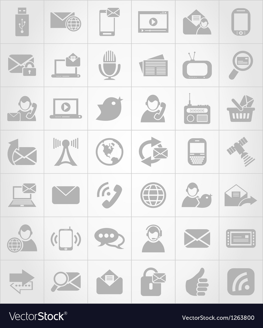 Icon communication6 vector | Price: 1 Credit (USD $1)
