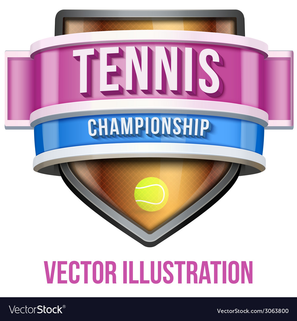 Label for tennis sport competition bright premium vector | Price: 3 Credit (USD $3)
