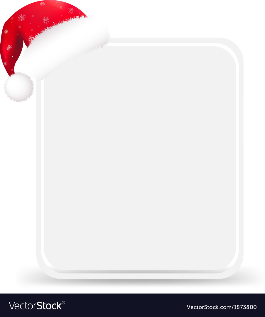 Santa hat with blank gift tag vector | Price: 1 Credit (USD $1)